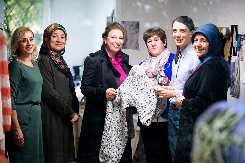 Sibilla Pavenstedt und Mitarbeiterinnen von Made auf Veddel